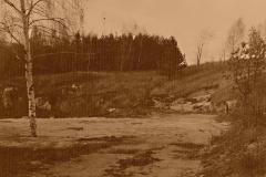 Stanoviště VV  v rozestavěném prostoru kulového střeliště 50m - 1989