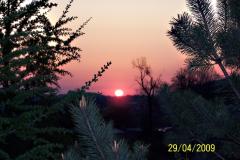 východ slunce - svítání na střelnici