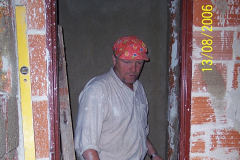 13. 8. 2006 - Stavba sociálního zařízení na  II. N.P