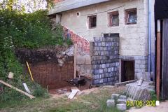 3. 6. 2008 - Stavba skladu pro terčový materiál - dokončení výkopových prací