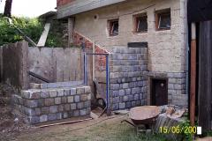 15. 6. 2008 - Stavba skladu pro terčový materiál