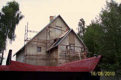 16. 8. 2010 - Omítání hlavní budovy