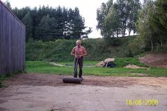 18. 8. 2008 - Úprava terénu ve střelišti na 50m