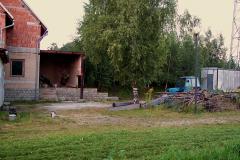 8. 9. 2005 - Rozestavěná šopa na palivo